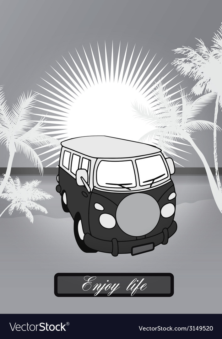 Holiday van background vector | Price: 1 Credit (USD $1)