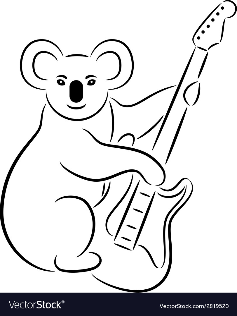 Koala bear vector | Price: 1 Credit (USD $1)