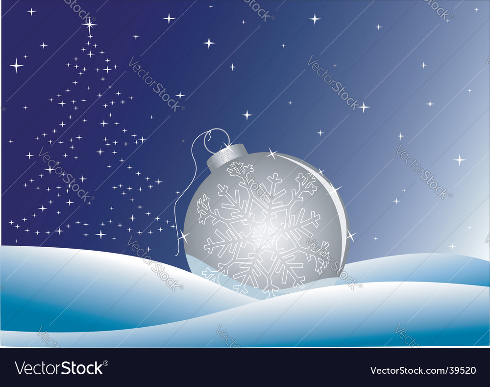 Night winter background vector | Price: 1 Credit (USD $1)