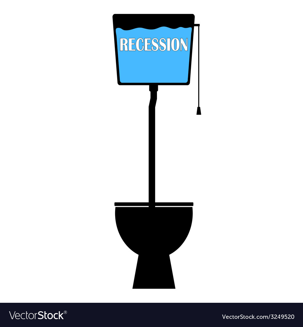 Recession on toilet vector | Price: 1 Credit (USD $1)