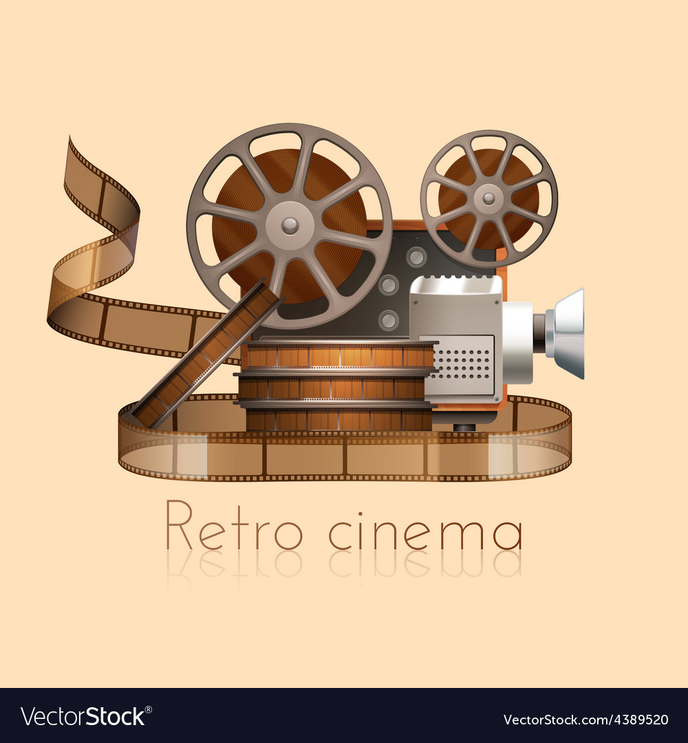 Retro film vector