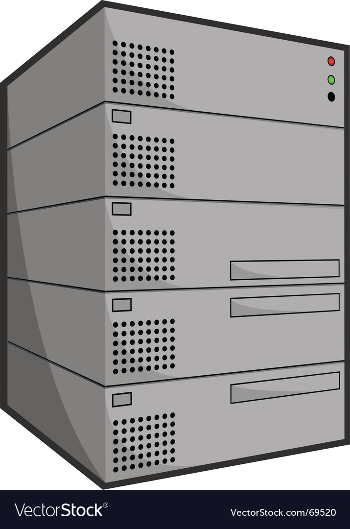 Server box vector | Price: 1 Credit (USD $1)