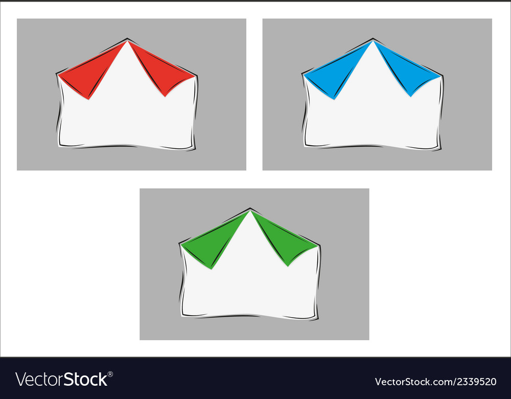 White blank paper with two bent corners with three vector | Price: 1 Credit (USD $1)