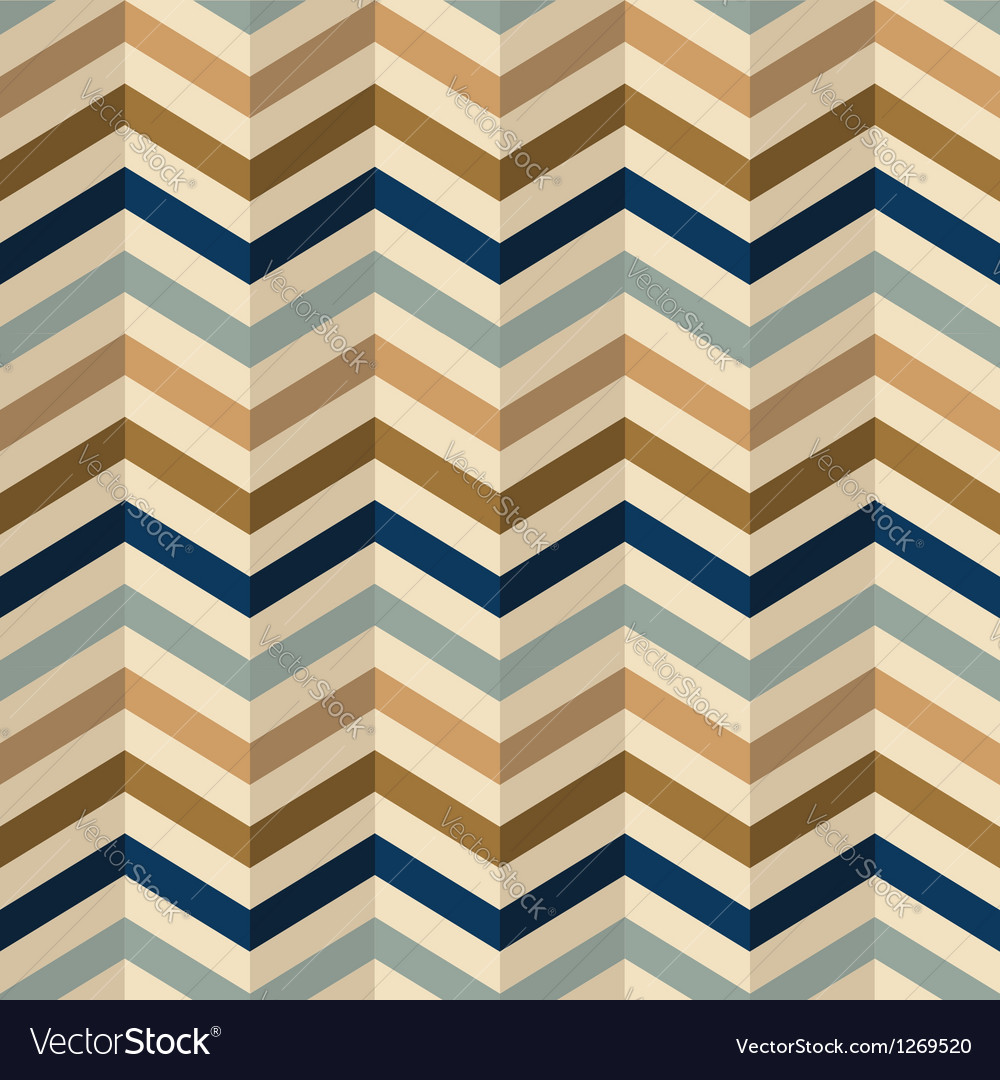 Zigzag chevron pattern in retro colors vector | Price: 1 Credit (USD $1)