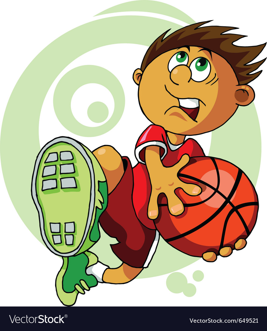 Basketball player cartoon vector | Price: 1 Credit (USD $1)