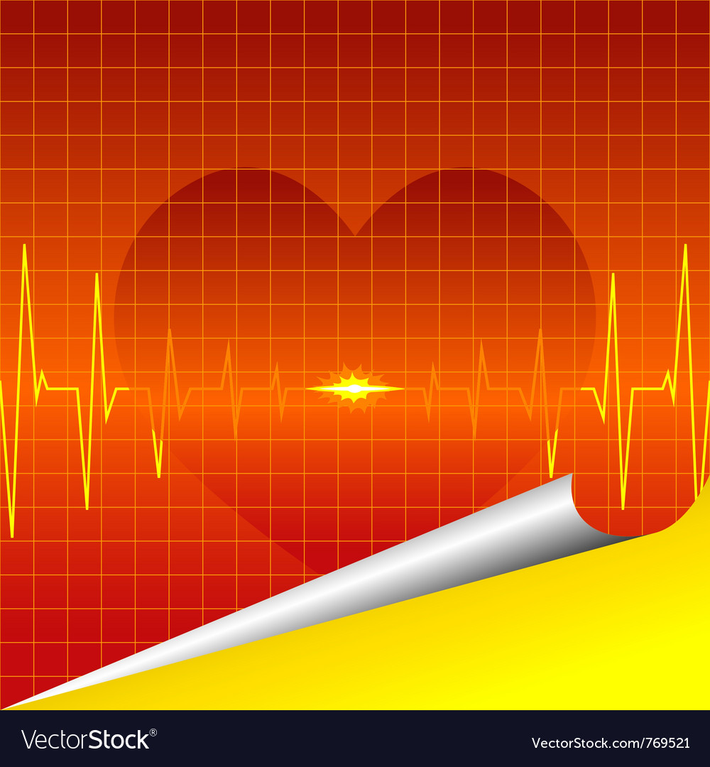 Cardiac silhouette background vector | Price: 1 Credit (USD $1)