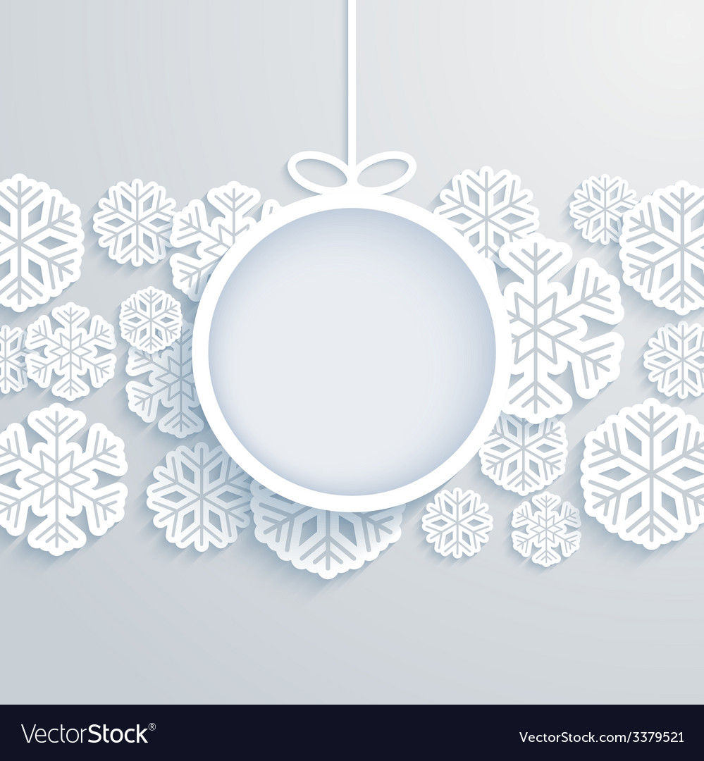 Christmas paper card vector | Price: 1 Credit (USD $1)