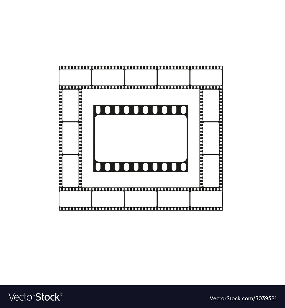 Cinema icon movie theater logo vector | Price: 1 Credit (USD $1)