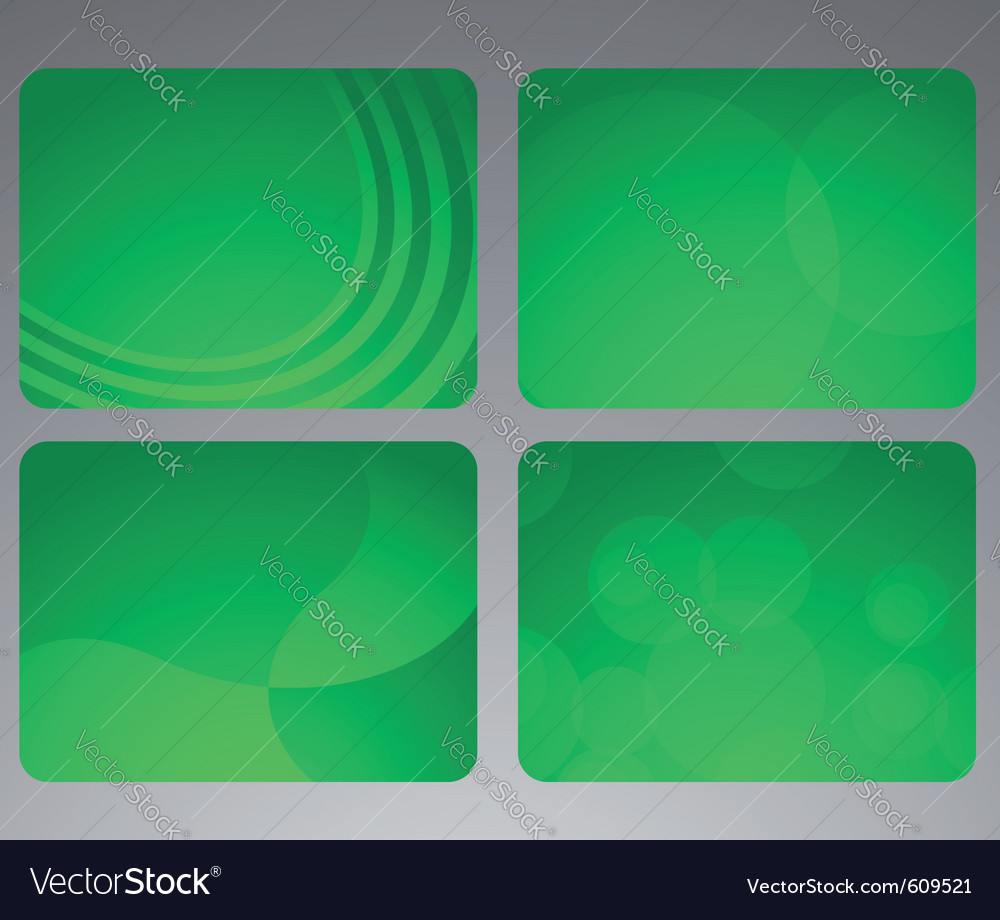 Collection of abstract green cards vector | Price: 1 Credit (USD $1)