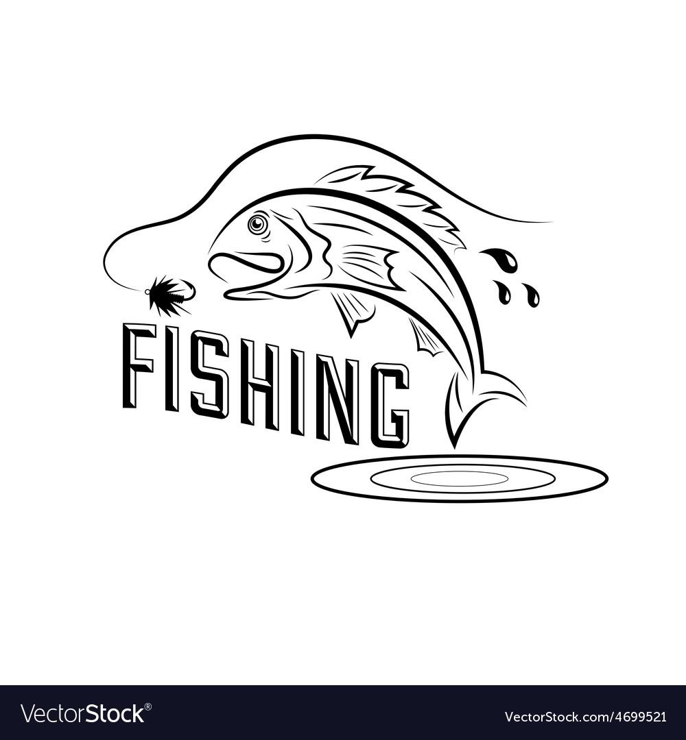 Fishing design template vector   Price: 1 Credit (USD $1)