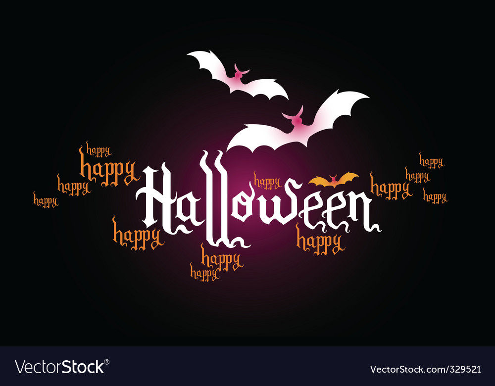 Halloween typographic banner vector | Price: 1 Credit (USD $1)