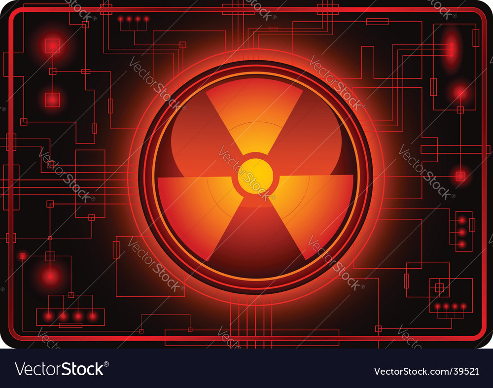 Nuclear sign micro schema vector | Price: 1 Credit (USD $1)