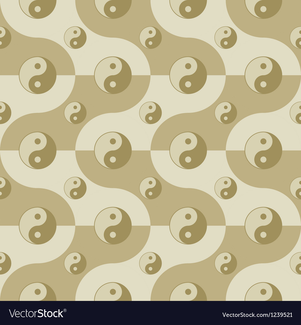 Pattern with yin yang symbols vector | Price: 1 Credit (USD $1)