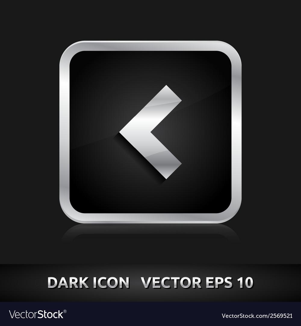 Phone icon silver metal vector | Price: 1 Credit (USD $1)