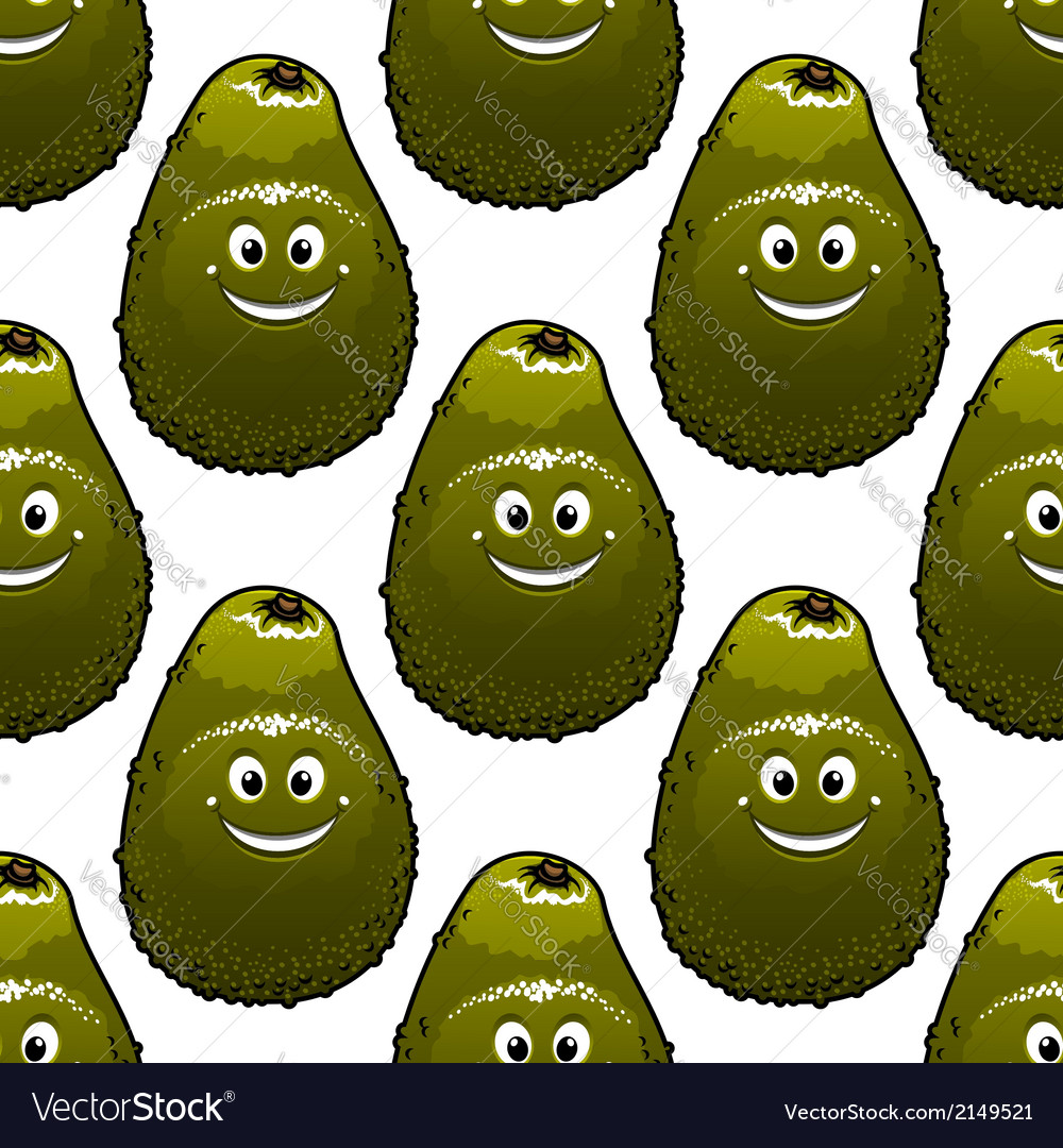 Seamless background pattern of avocado vector | Price: 1 Credit (USD $1)