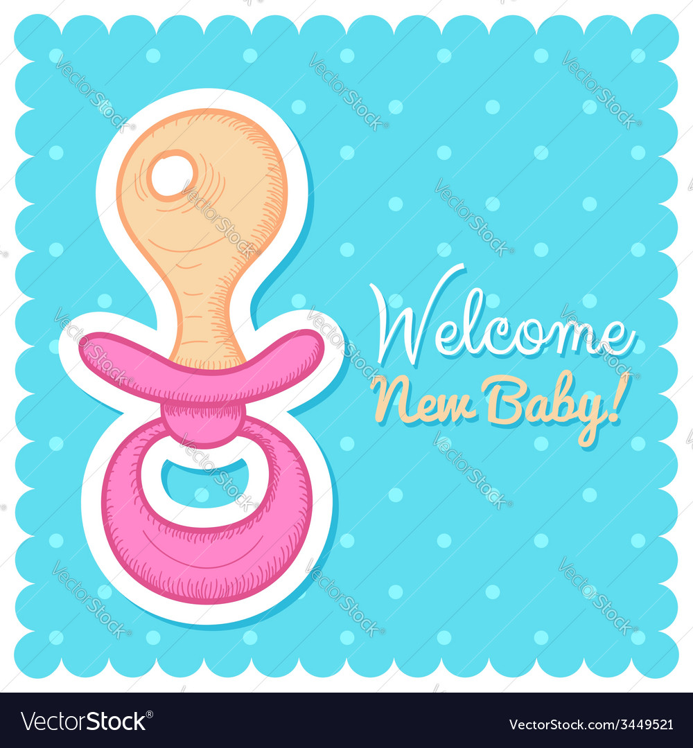 Welcome baby card vector | Price: 1 Credit (USD $1)