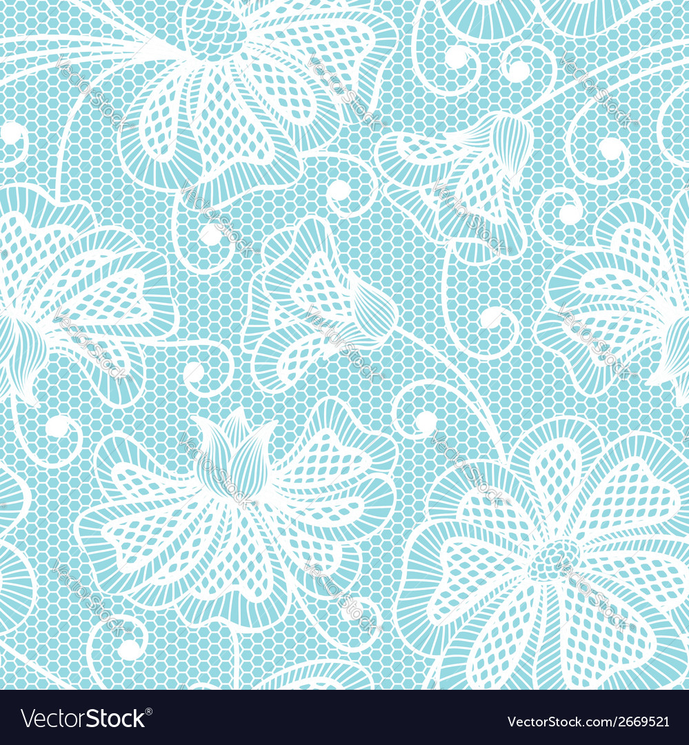 White seamless flower pattern vector | Price: 1 Credit (USD $1)
