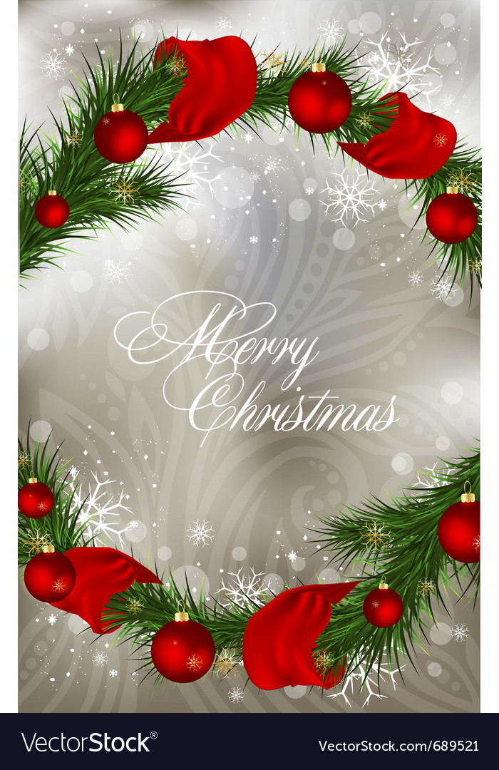 Xmas greeting card vector | Price: 1 Credit (USD $1)