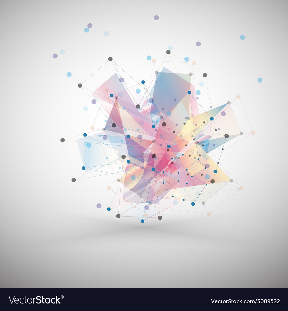 Abstract colored background triangle design vector | Price: 1 Credit (USD $1)