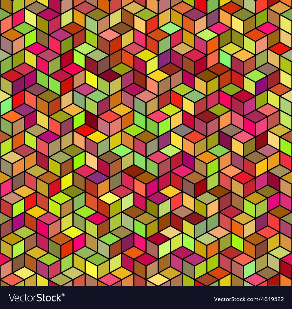 Abstract geometric color seamless background vector | Price: 1 Credit (USD $1)