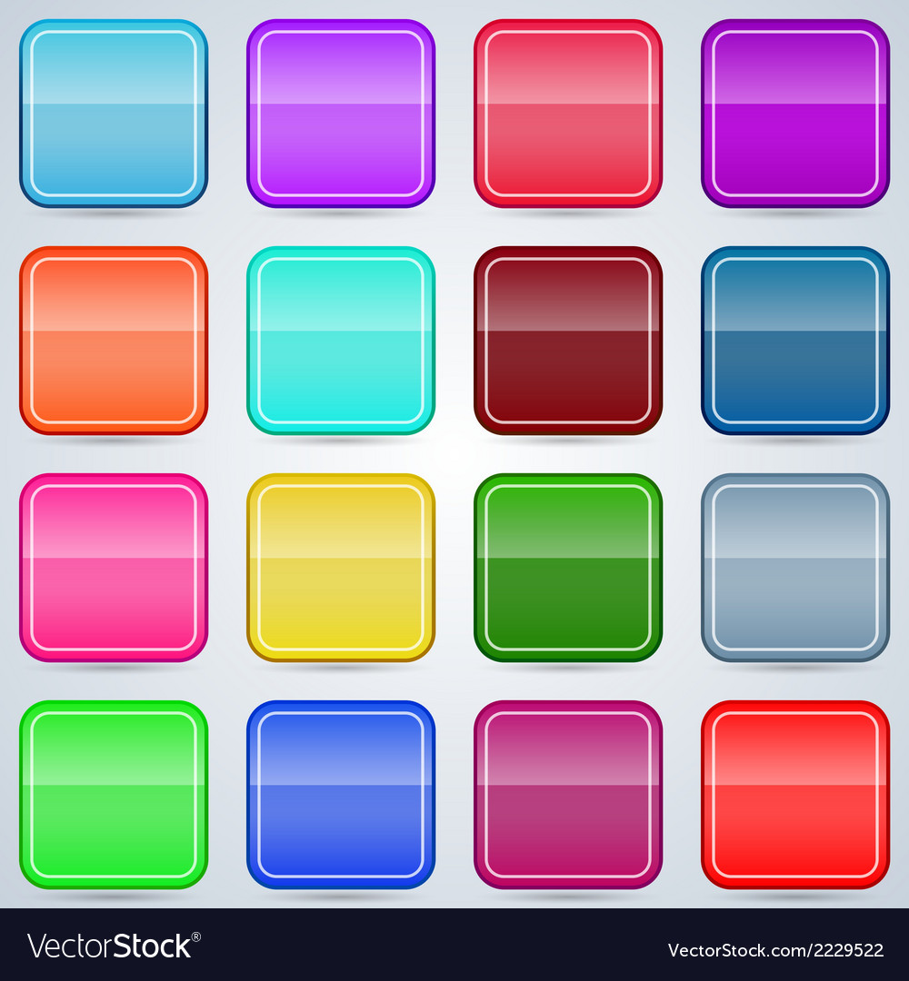 Colorful buttons templates vector | Price: 1 Credit (USD $1)