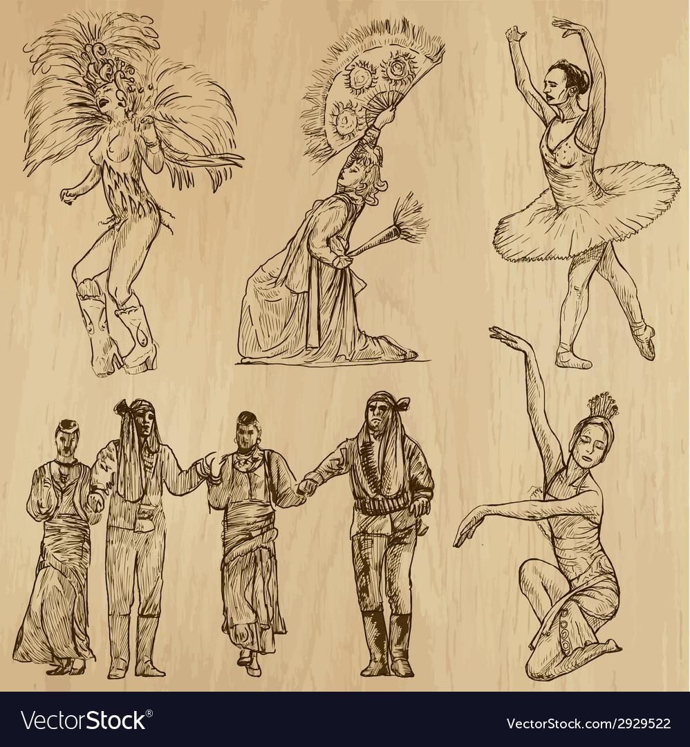 Dancers - hand drawn vector   Price: 1 Credit (USD $1)