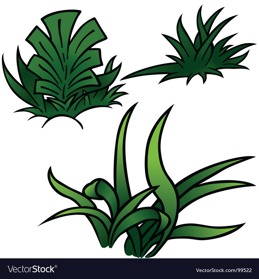 Grass set vector | Price: 1 Credit (USD $1)