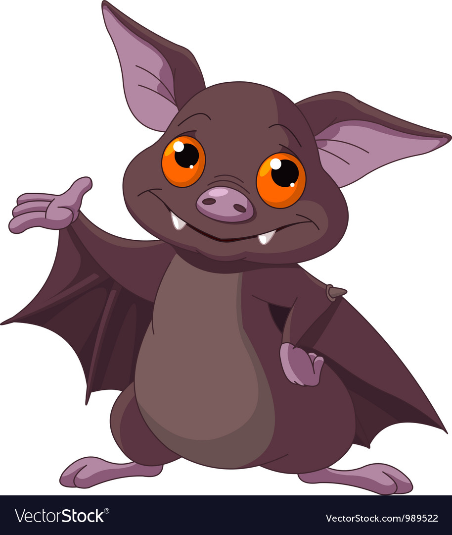 Halloween bat presenting vector | Price: 3 Credit (USD $3)