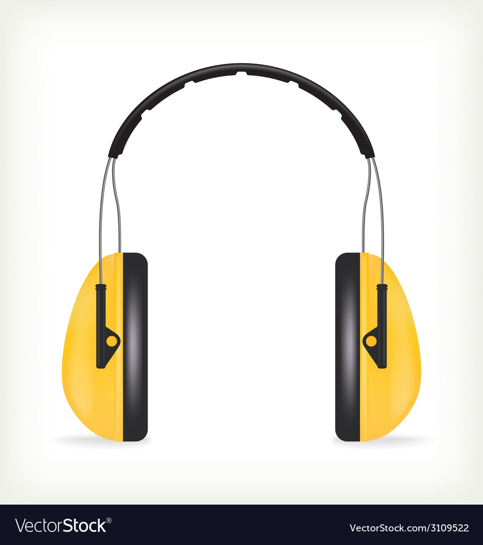Headphones for ear protection vector | Price: 1 Credit (USD $1)