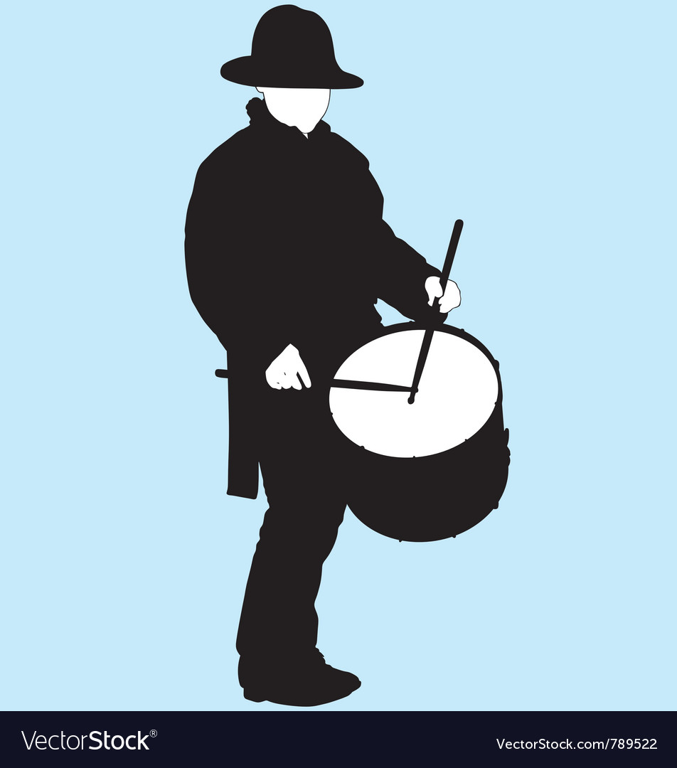 Little drummer boy silhouette vector | Price: 1 Credit (USD $1)