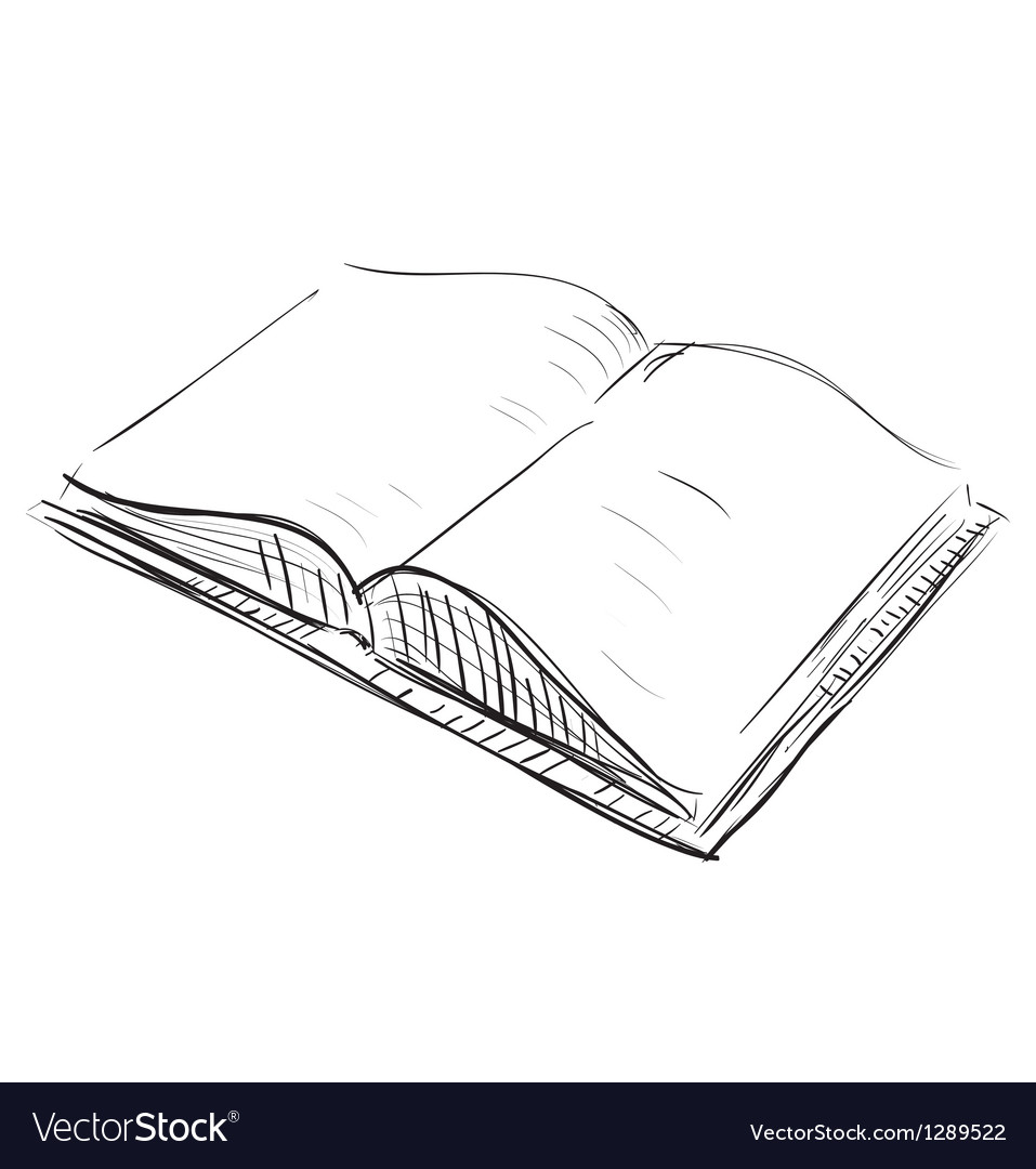 Open book sketch icon vector | Price: 1 Credit (USD $1)