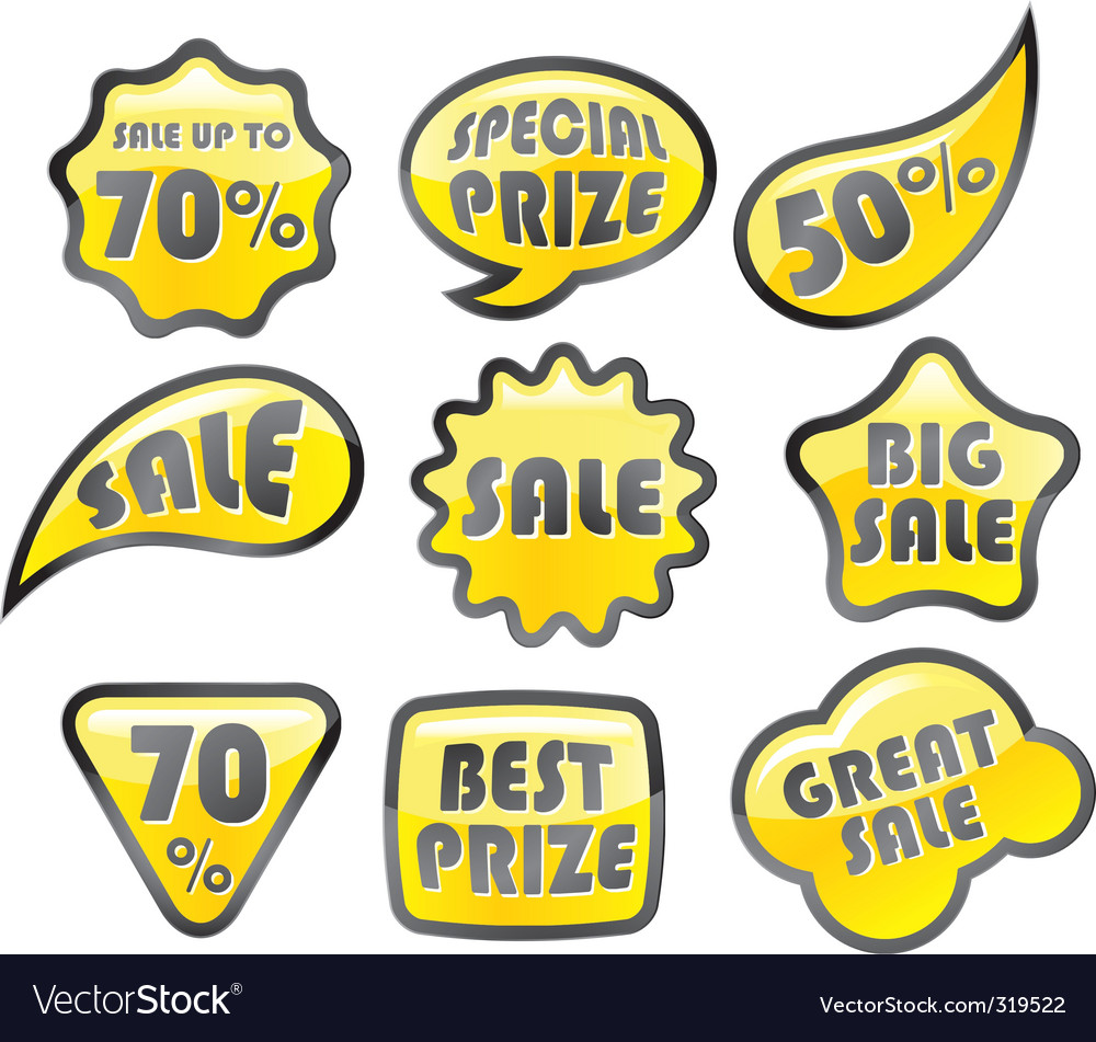 Retail icon sale vector | Price: 1 Credit (USD $1)