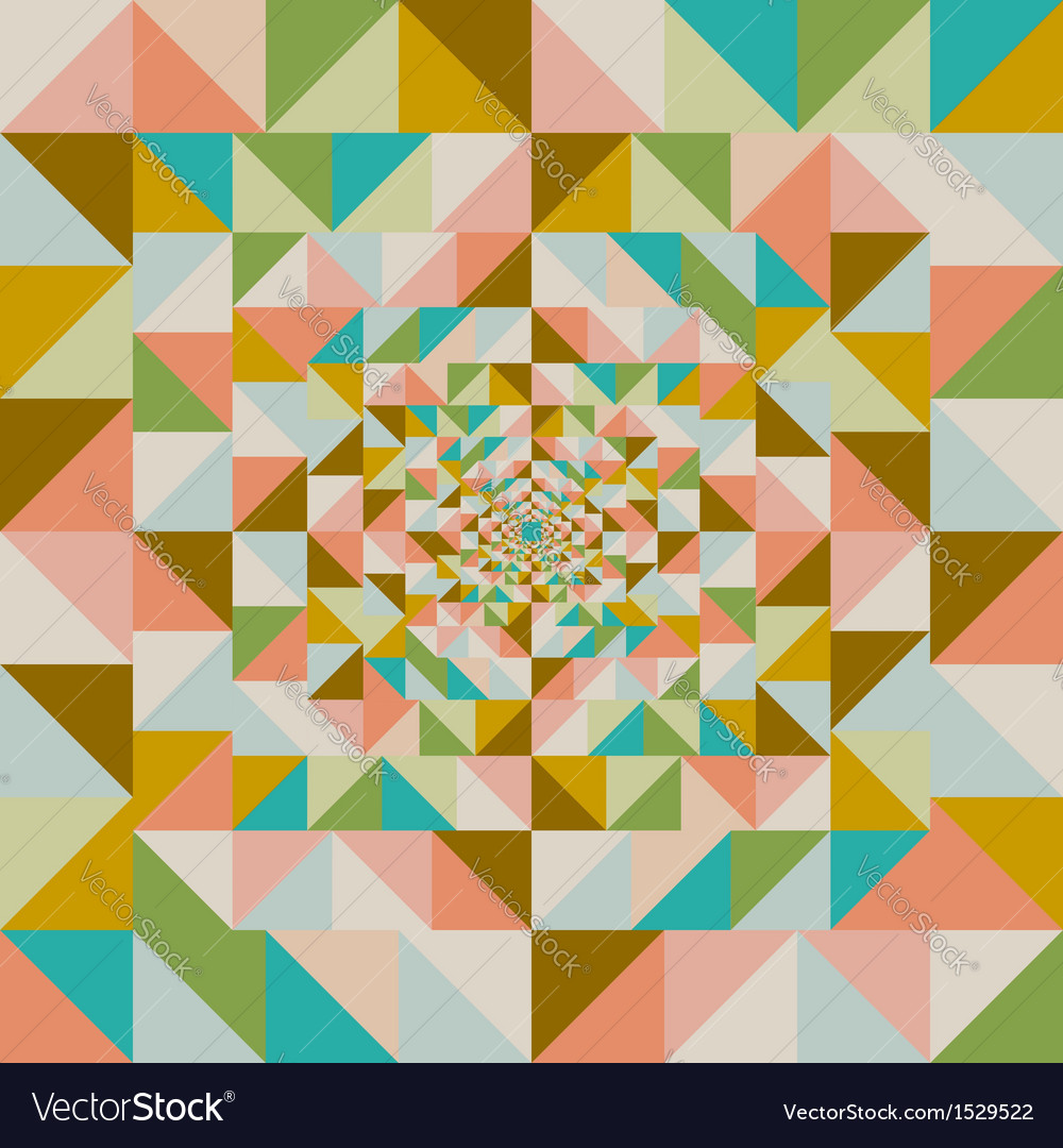 Retro abstract visual effect seamless pattern vector | Price: 1 Credit (USD $1)
