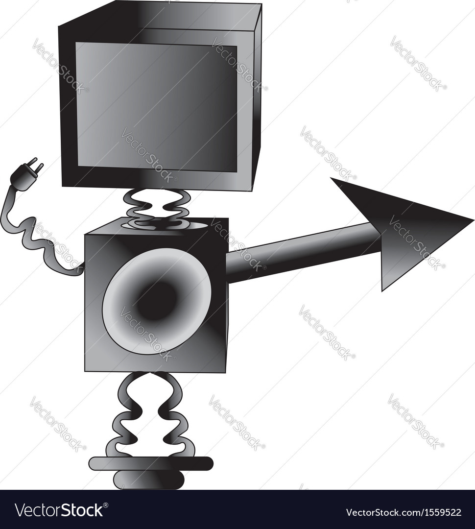 Robot tv vector | Price: 1 Credit (USD $1)