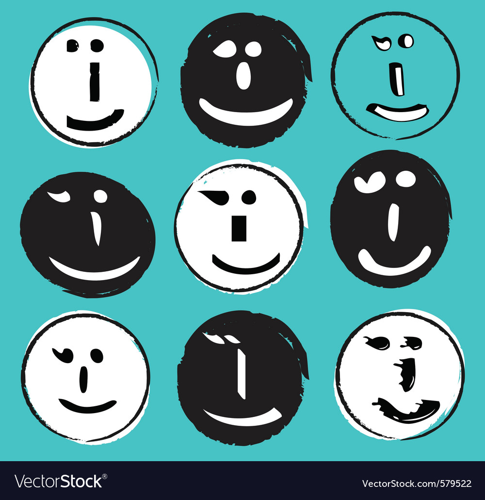 Text wink face vector | Price: 1 Credit (USD $1)