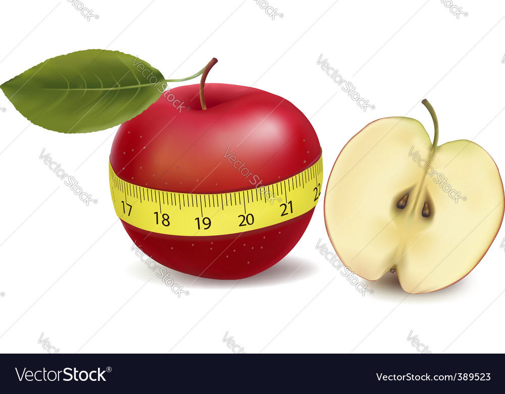 Apple with meter vector | Price: 1 Credit (USD $1)