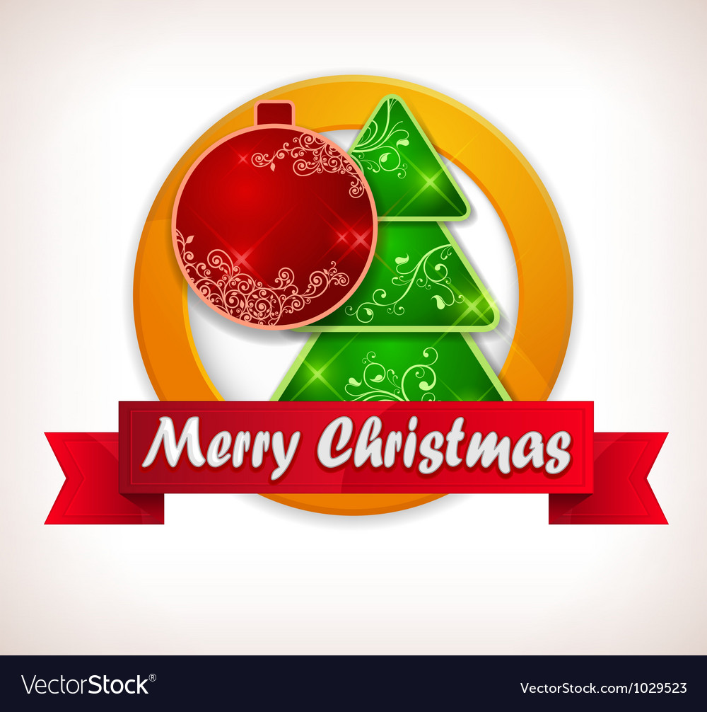 Christmas lable vector | Price: 1 Credit (USD $1)