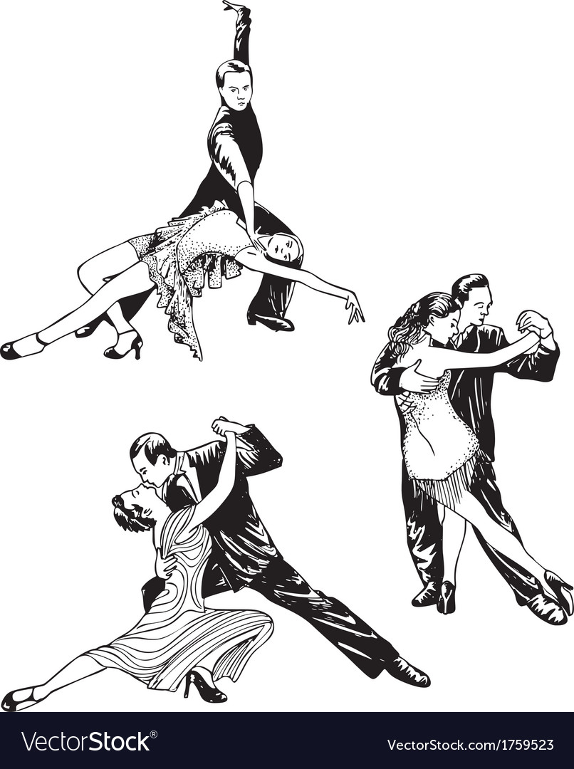 Dancing couples vector | Price: 1 Credit (USD $1)