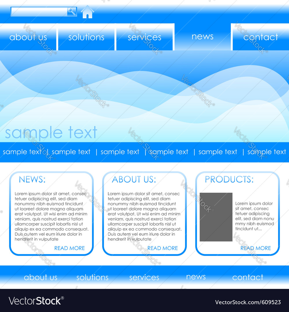 Editable website template vector | Price: 1 Credit (USD $1)