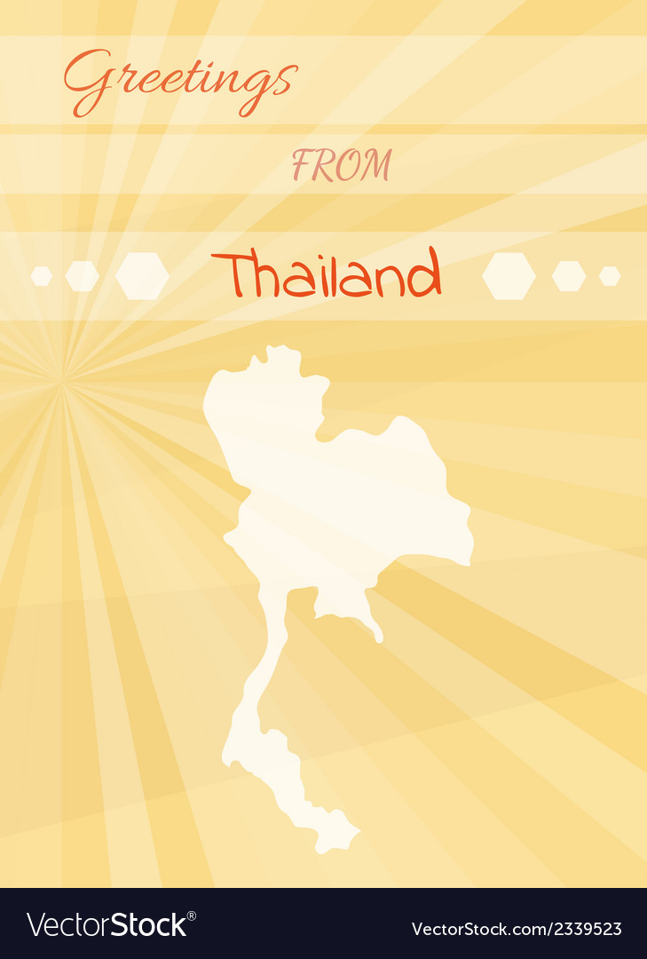 Greetings from thailand vector | Price: 1 Credit (USD $1)