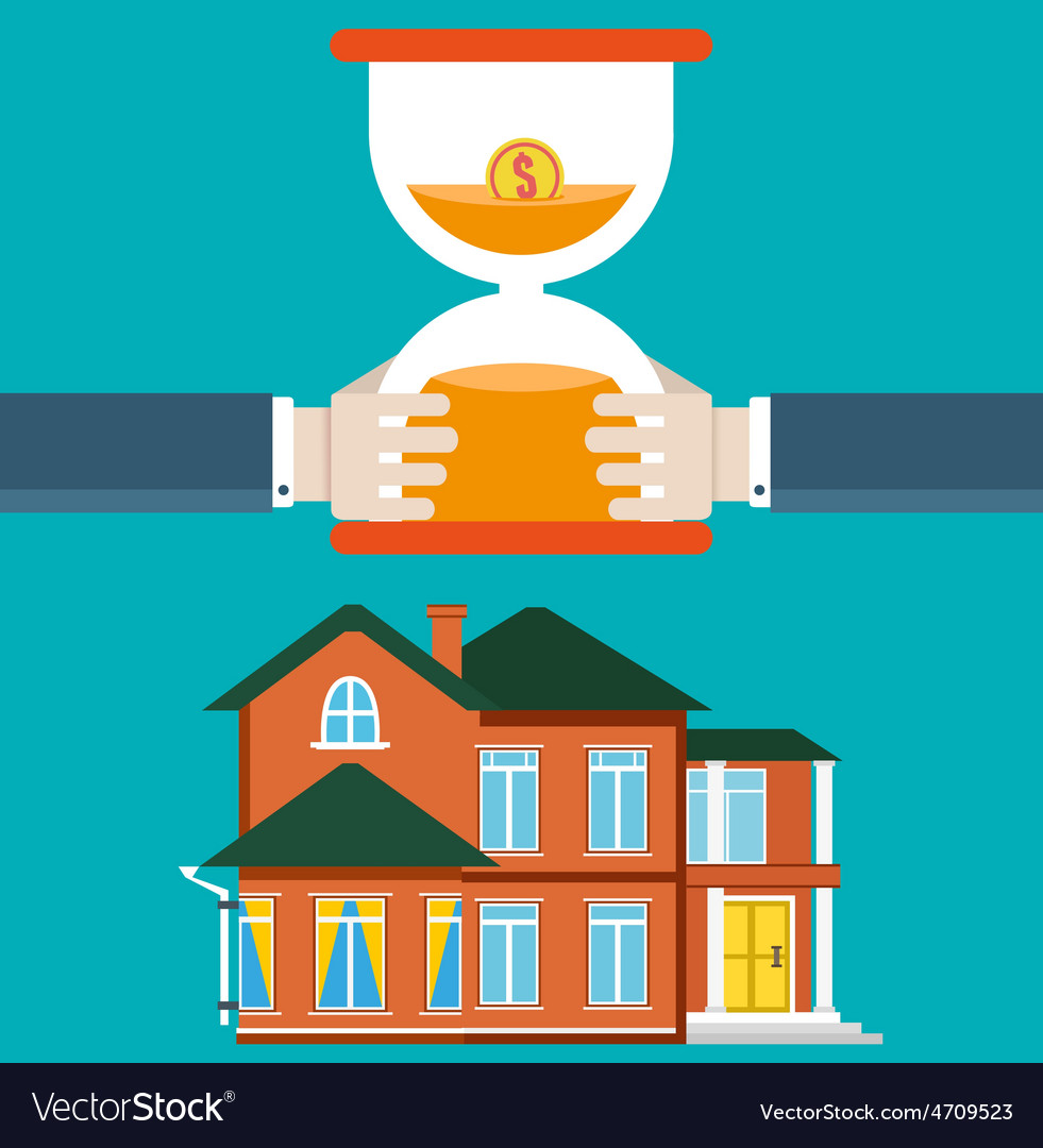 Purchase of housing by mortgage vector | Price: 1 Credit (USD $1)