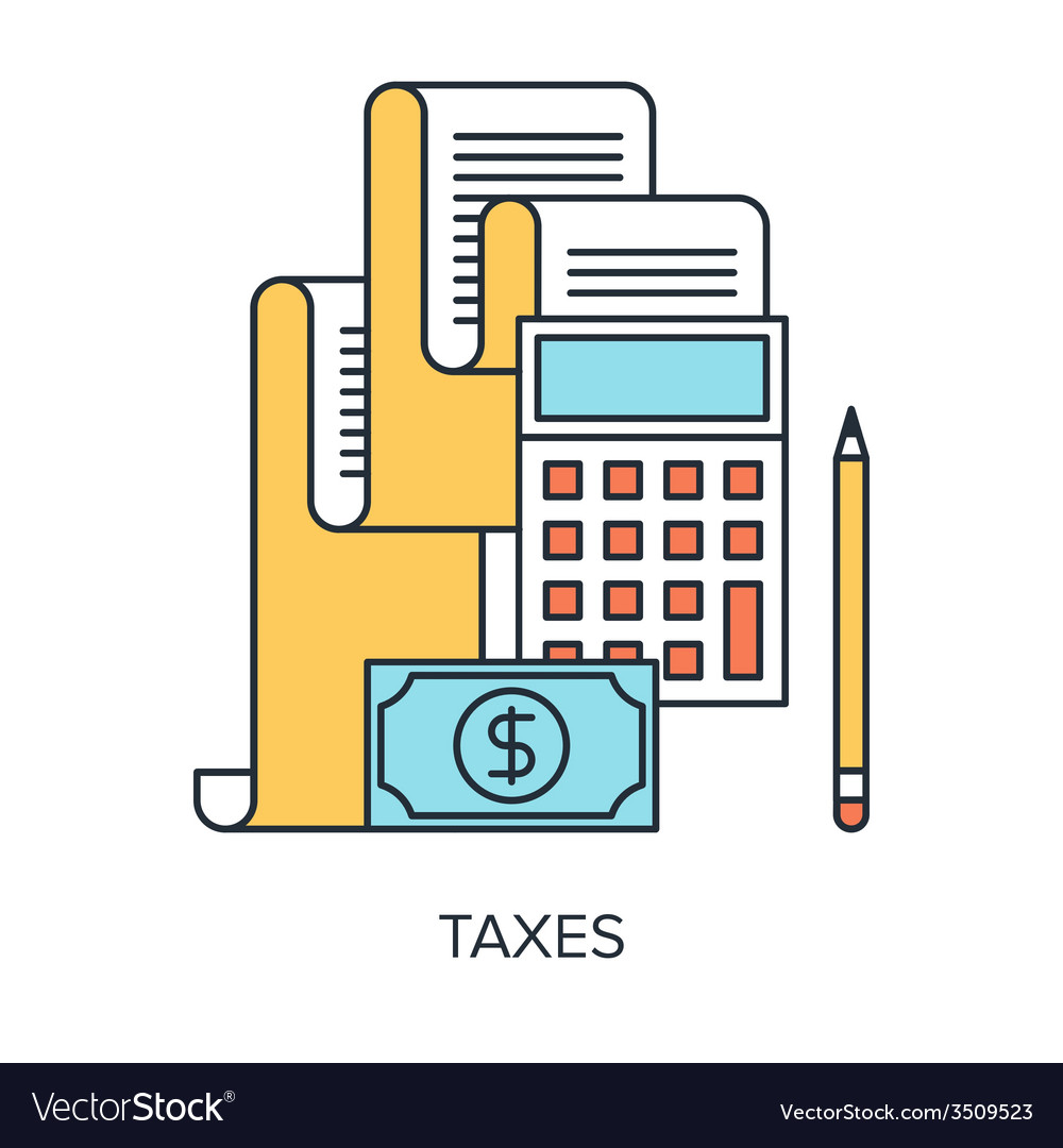 Taxes concept vector | Price: 1 Credit (USD $1)