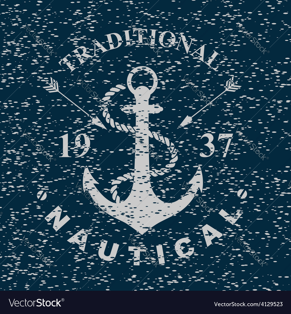 T-shirt print nautical marine badge design vector | Price: 1 Credit (USD $1)
