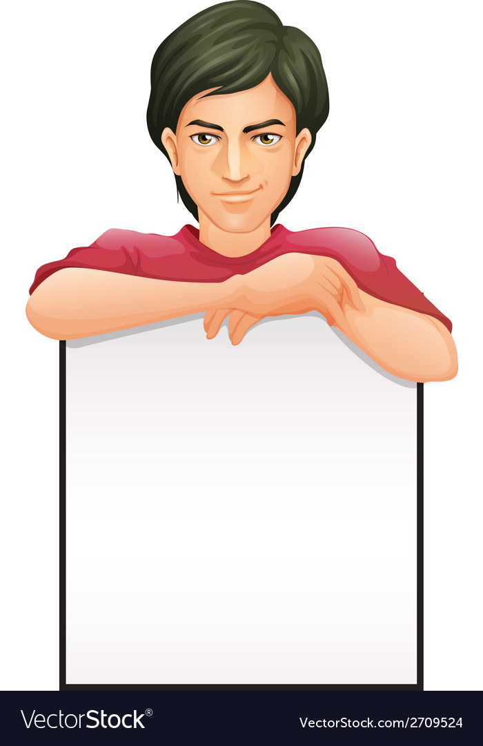 A man with an empty signboard vector | Price: 1 Credit (USD $1)