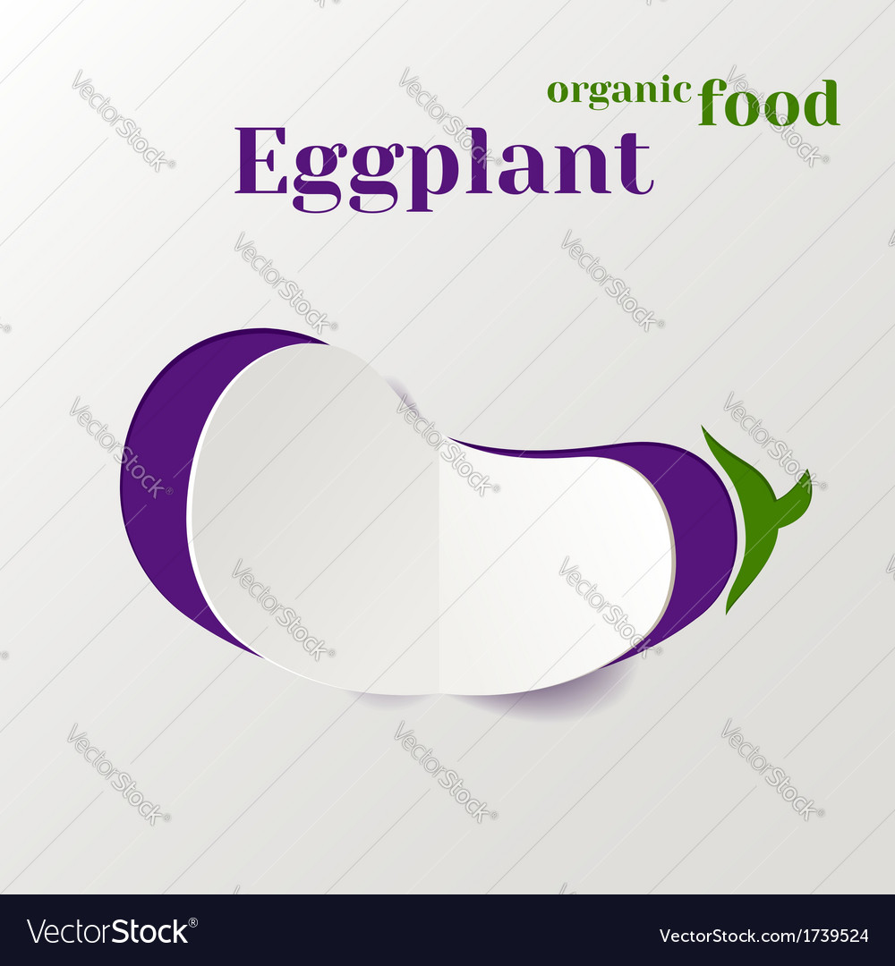 Abstract paper eggplant vector | Price: 1 Credit (USD $1)