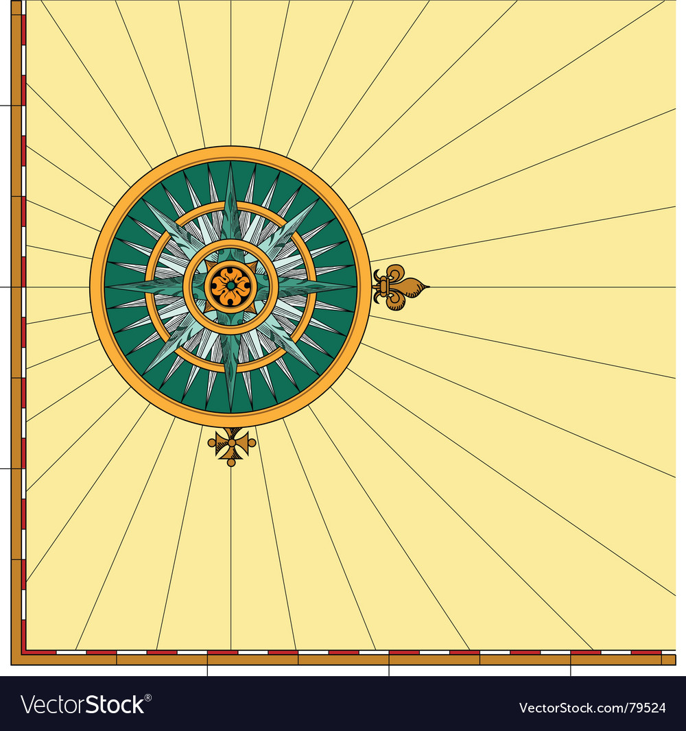 Compass rose mariner vector | Price: 1 Credit (USD $1)
