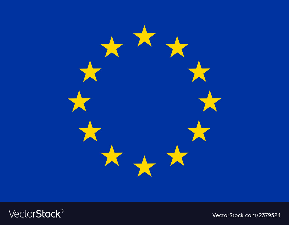 Flag of europe vector   Price: 1 Credit (USD $1)
