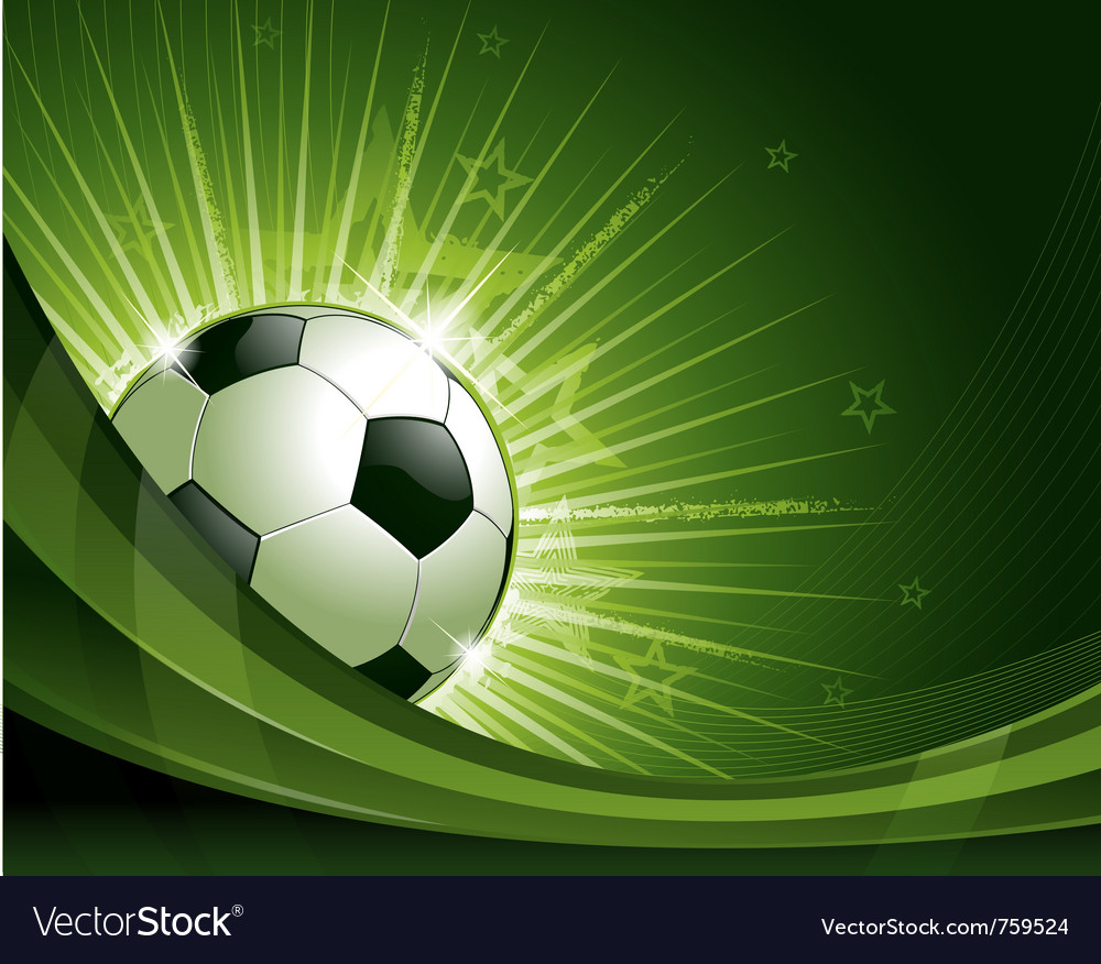 Green soccer background vector