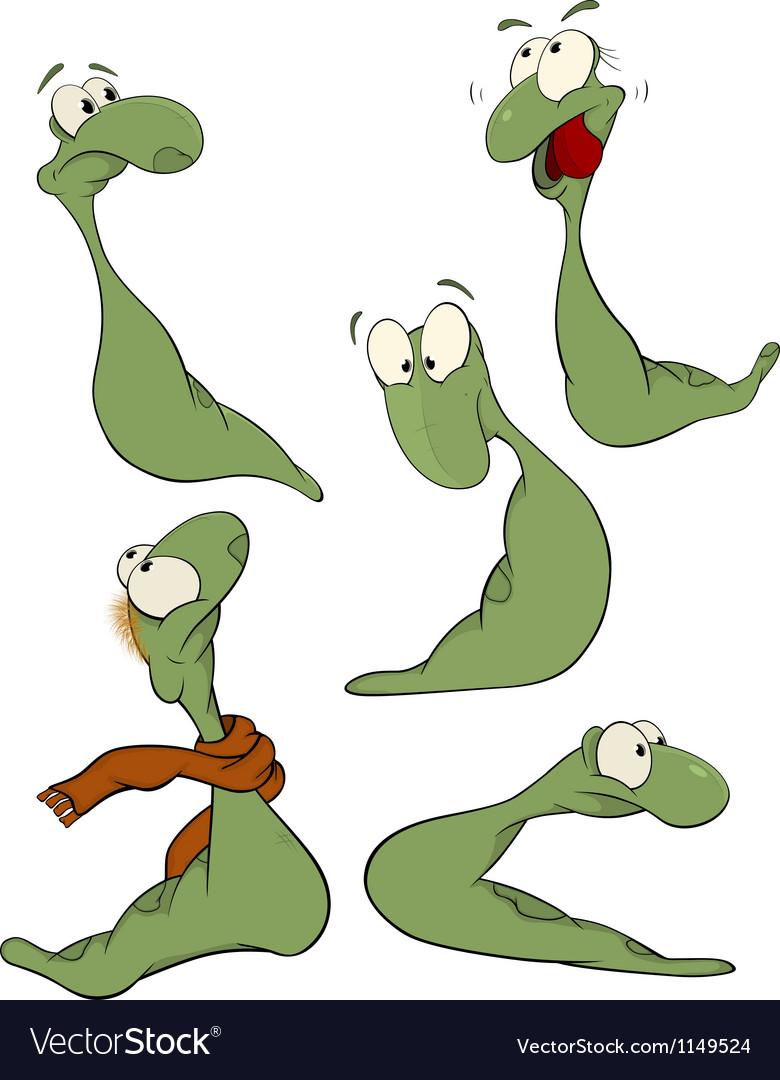 Green worm clip-art vector | Price: 1 Credit (USD $1)