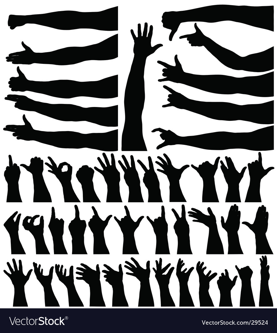 Hands and arms vector | Price: 1 Credit (USD $1)
